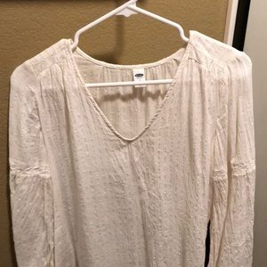 Old Navy Top with gold accents and bell sleeves